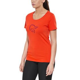 Norrøna /29 cotton logo Kortærmet T-shirt Damer orange